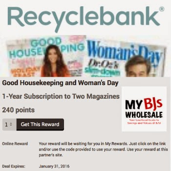 Recyclebank: Get a 1-Year Subscription to Good Housekeeping and Woman's Day FREE