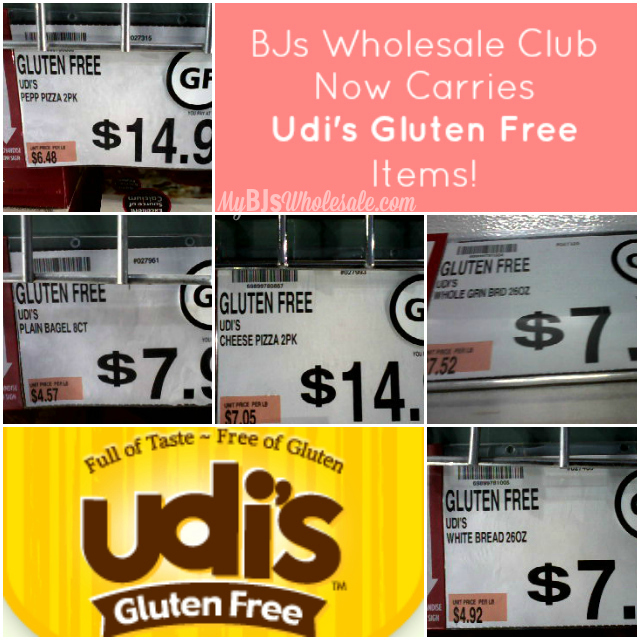Udi's Gluten Free Items Now Available at BJs Wholesale Club!