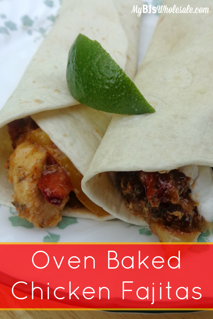 Oven Baked Chicken Fajitas