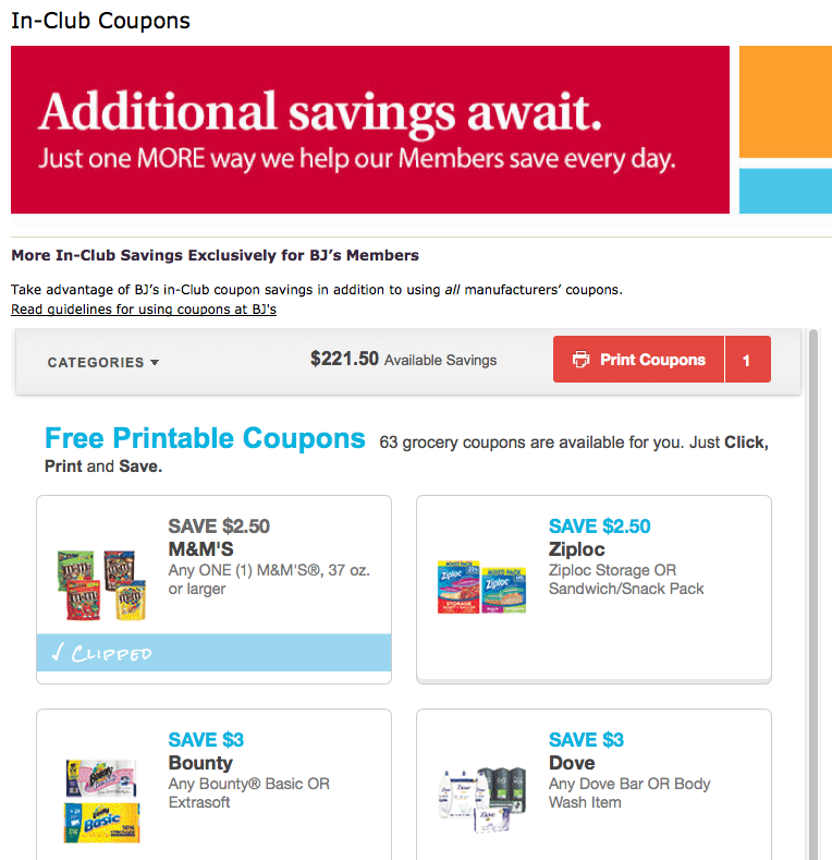 BJs Printable Coupons Are Now Powered by Coupons.com