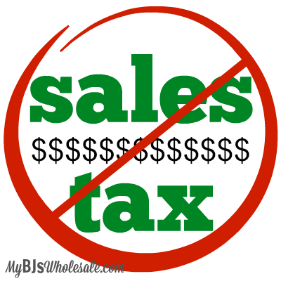 Tax Free Shopping 2015 for BJs Members