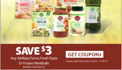 bjs wellsley farms pasta printable coupon