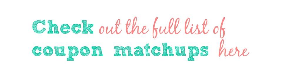 bjs coupon matchups list