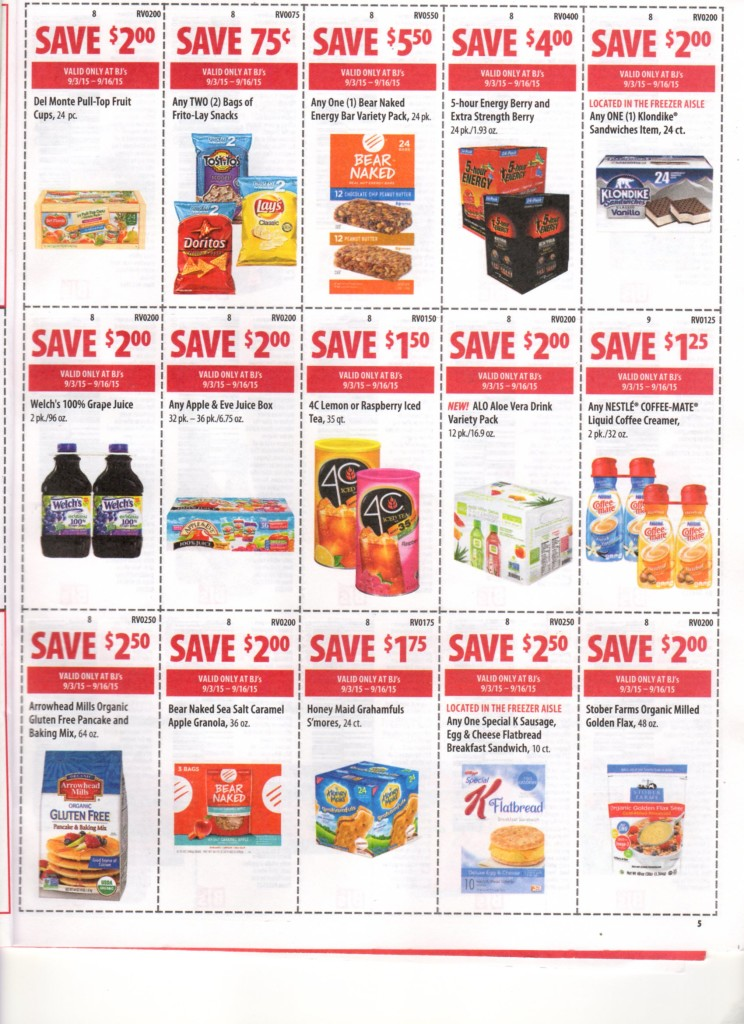 bjs front of club coupons 9/3/15