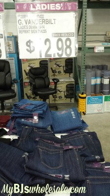 vanderbilt jeans marked down at bjs