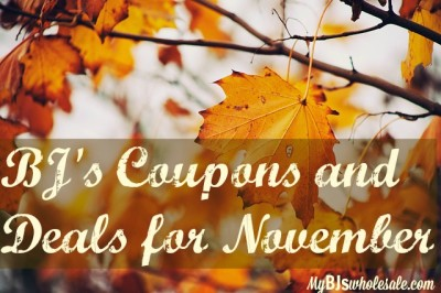 bjs coupons and deals for november 2015