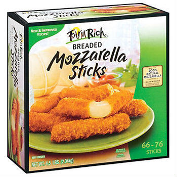 farm rich mozzarella snacks deal at bjs