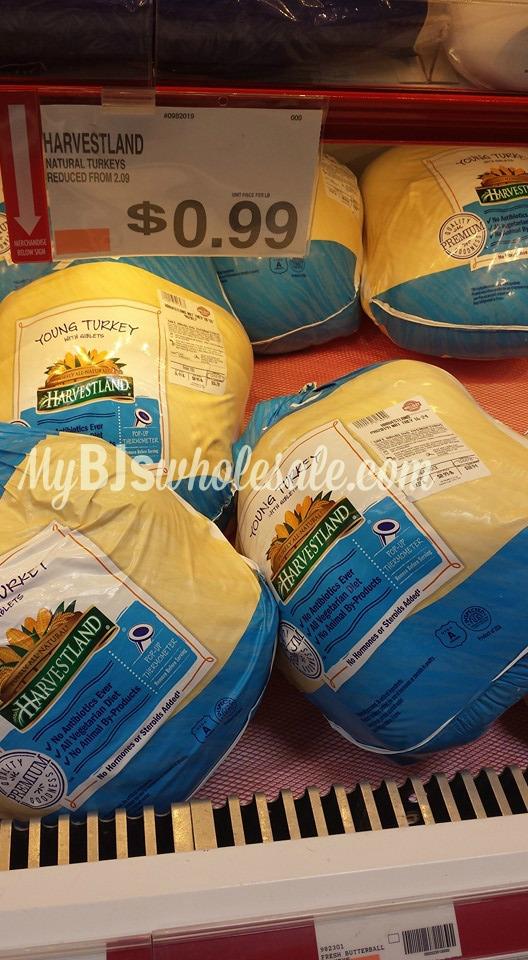 harvestland turkeys marked down