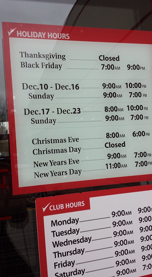 Christmas hours at bjs