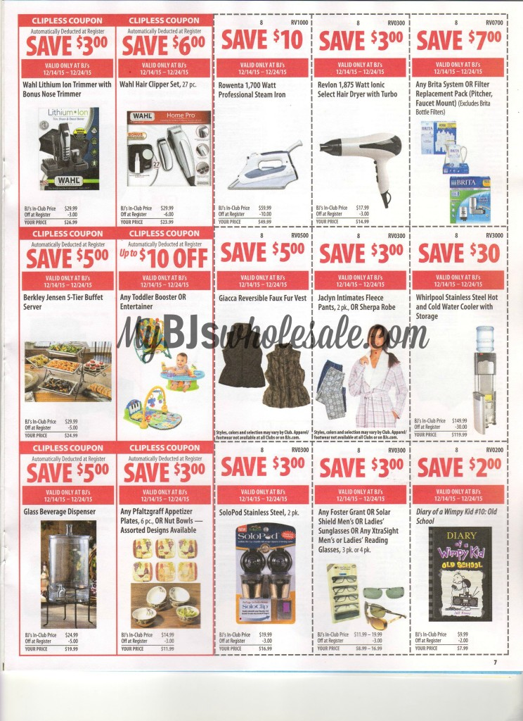 bjs front of club coupon scan