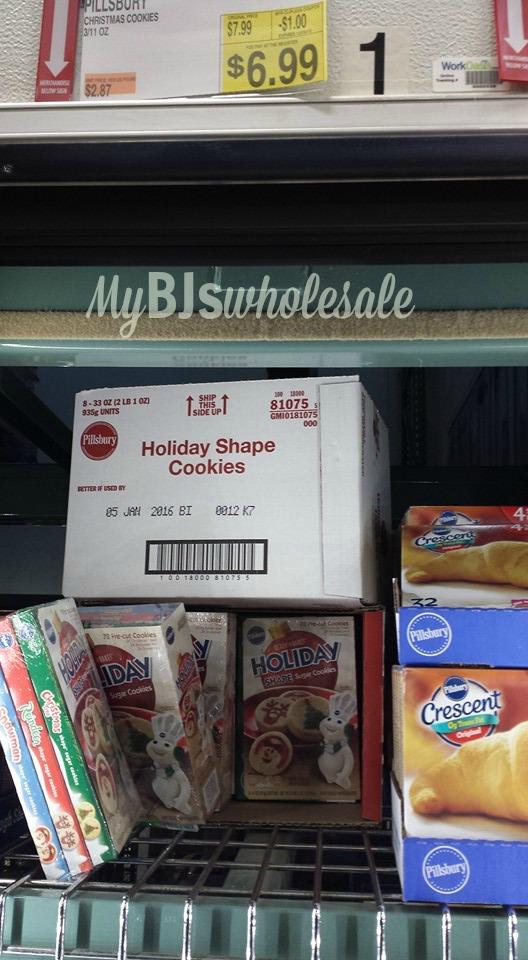 pillsbury cookies holiday shape deal at bjs