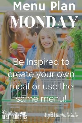 menu plan monday with meal ideas 2016