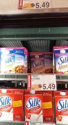 silk almond milk at bjs wholesale club
