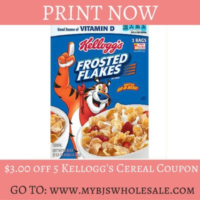 hot $3 off 5 kelloggs coupon cereal coupon back