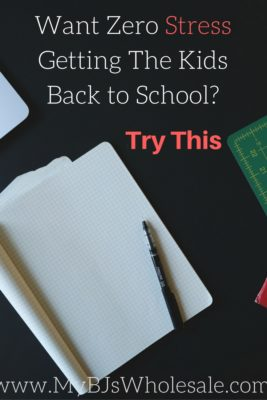 Want a stress free back to school transition? Try This