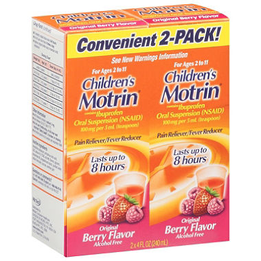 childrens motrin double stack