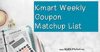 Kmart Weekly Coupon Matchups
