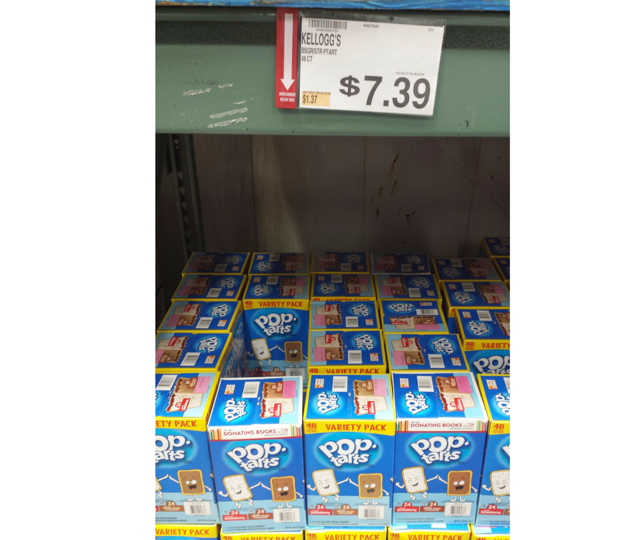 Pop tarts free at BJs Wholesale Club