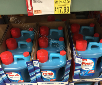 persil laundry detergent price at BJs Wholesale Club
