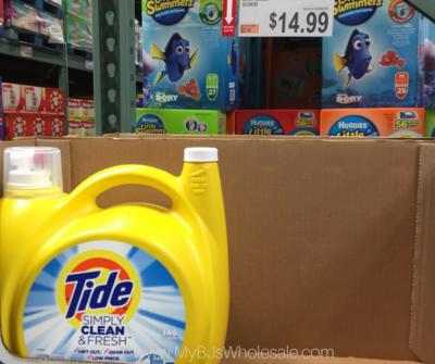 Tide simply detergent at BJs