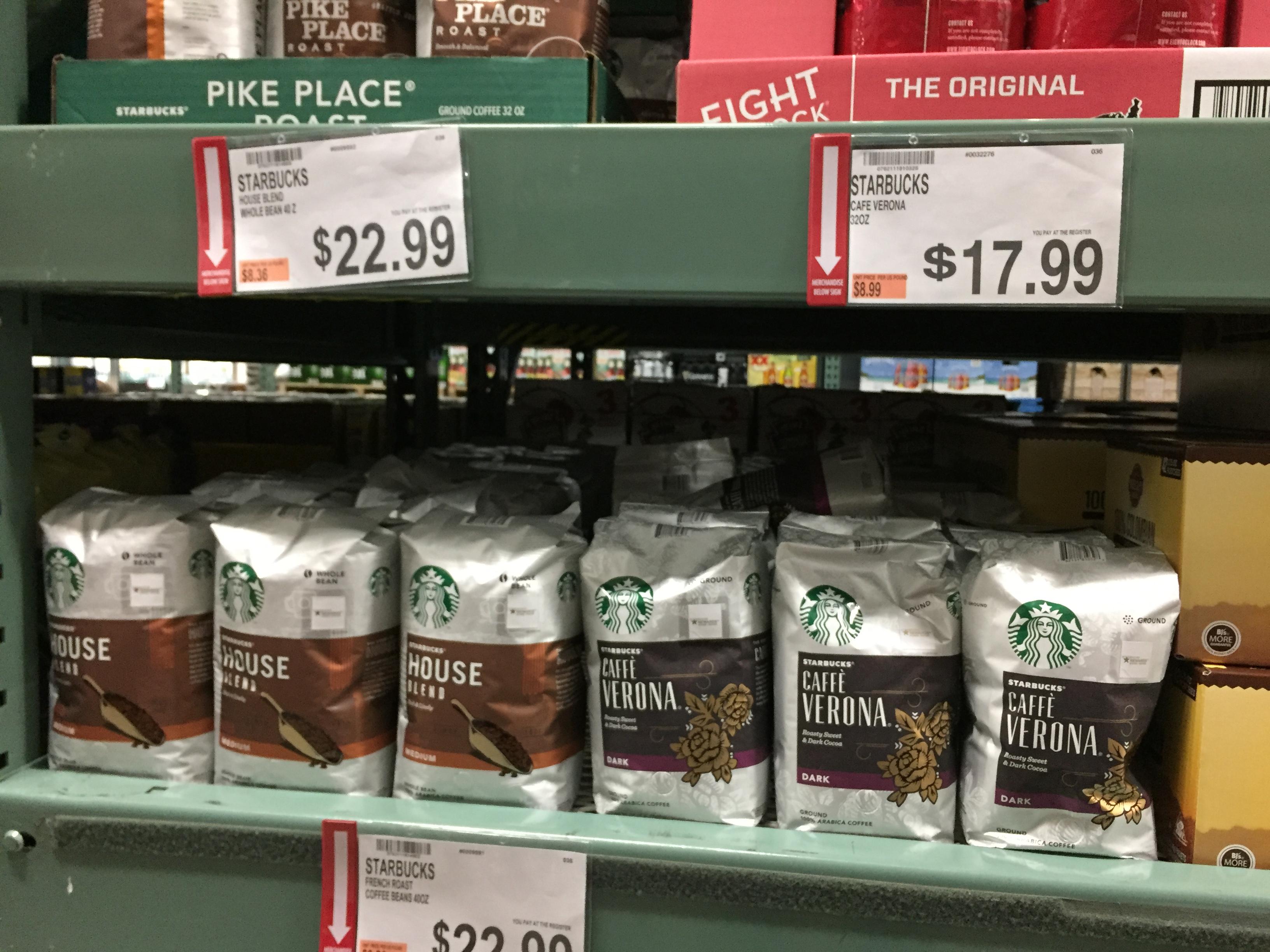 starbucks coffee deal at BJs