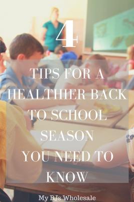 Tips for a healthier back to school season