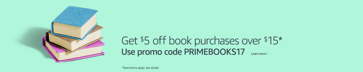 amazon prime member savings ion books $5 off