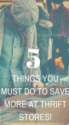 how to save more money at thrift stores on a budget