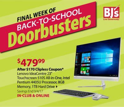 BJs back to school lenovo computer deal