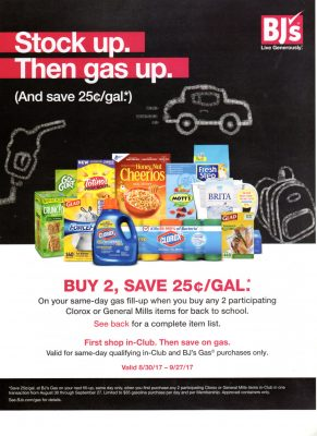 BJs Wholesale gas promotions savings