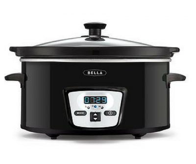 bella 5 quart programmable crockpot deal