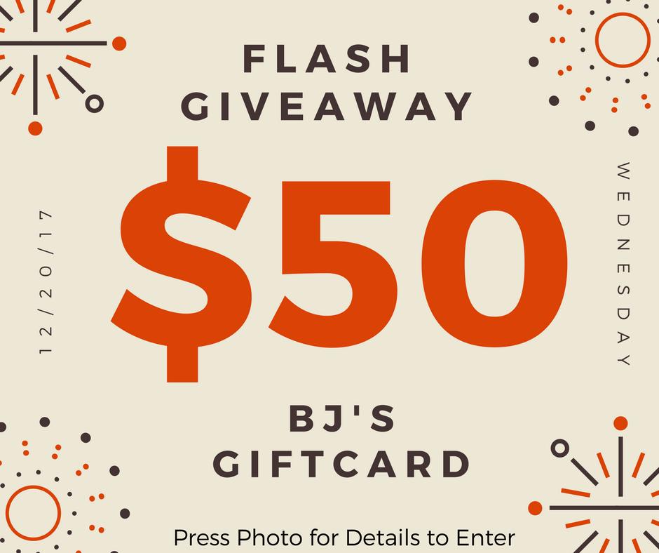 giveaway for $50 BJs gift card-membership free