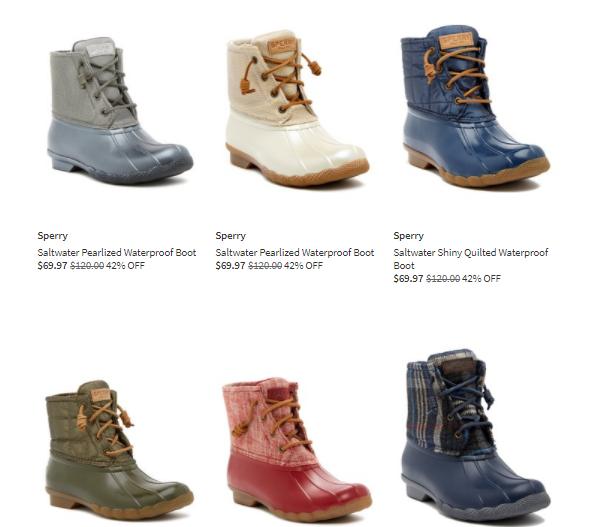 sperrys duck boots on sale