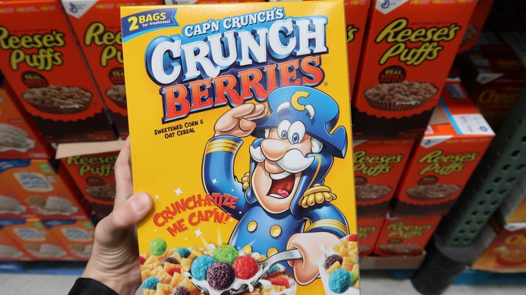 BJs coupon for cap n crunch cereal at BJs price