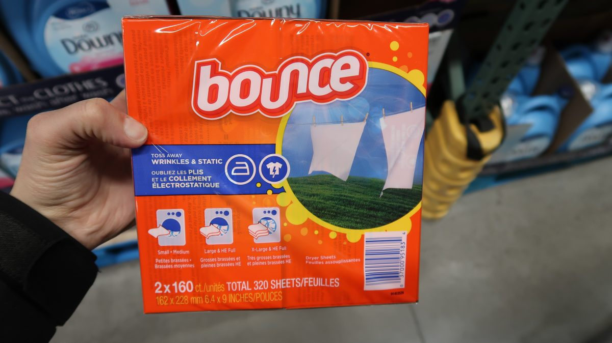 Bounce Dryer Sheets $4.99 for 320 ct & Gas Discount
