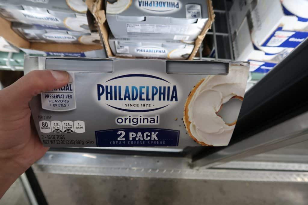 philadelphia cream cheese spreadable bjs