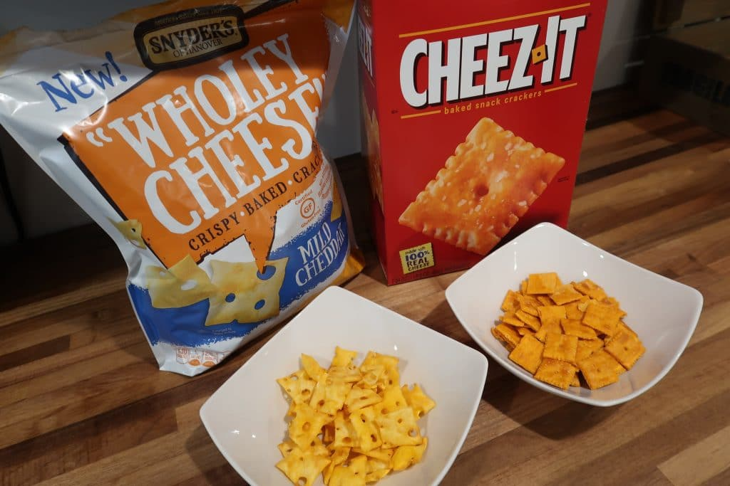 cheez-it compared ot Snyders- wholly-cheese