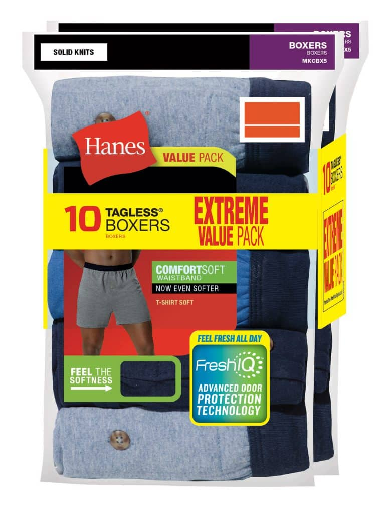 Hanes Men's Tagless Boxers 10pk $17