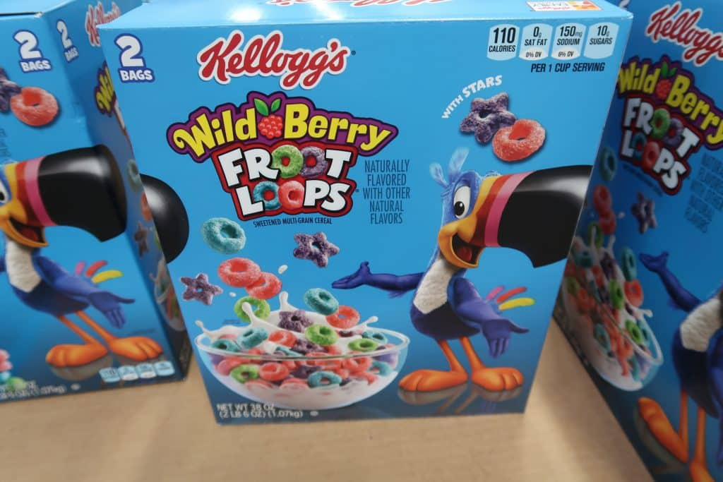 kelloggs wild berry froot loops cereal