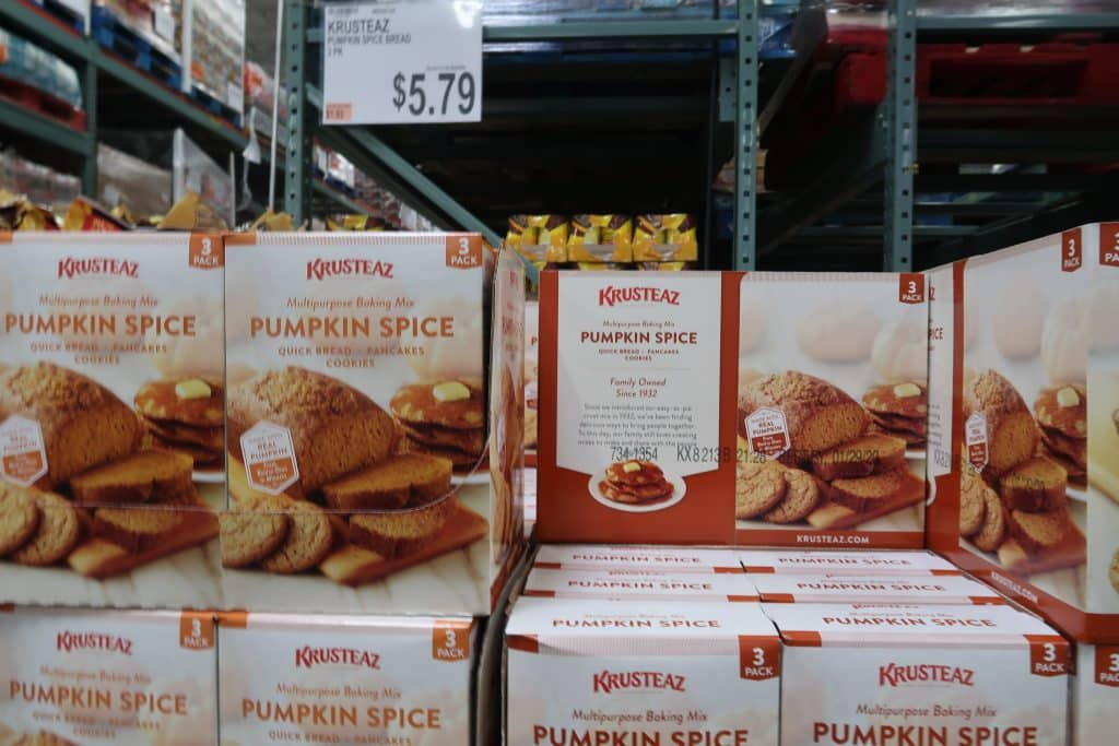 krusteaz pumpkin spice mix at BJs wholesale club