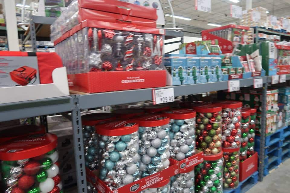christmas decorations at BJs
