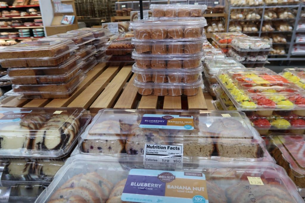 pumpkin bakery items at BJs wholesale club