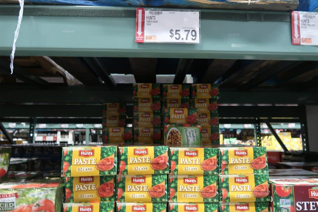 hunts diced or tomatoe paste at BJs wholesale club