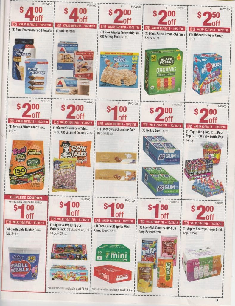 Bjs in club coupon book scan and matchups october 2018
