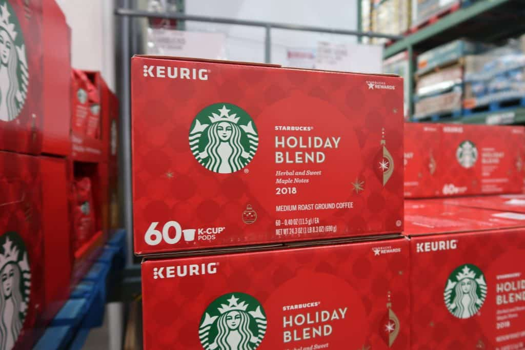 starbucks holiday blend kcups bjs