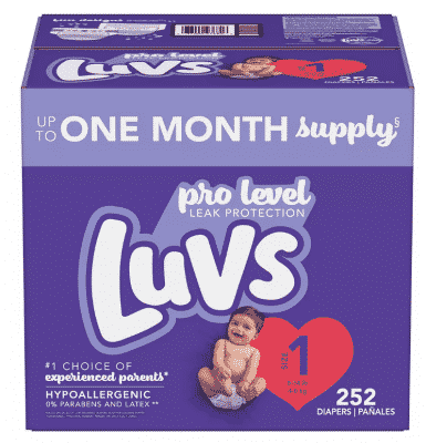 double stack luvs diapers