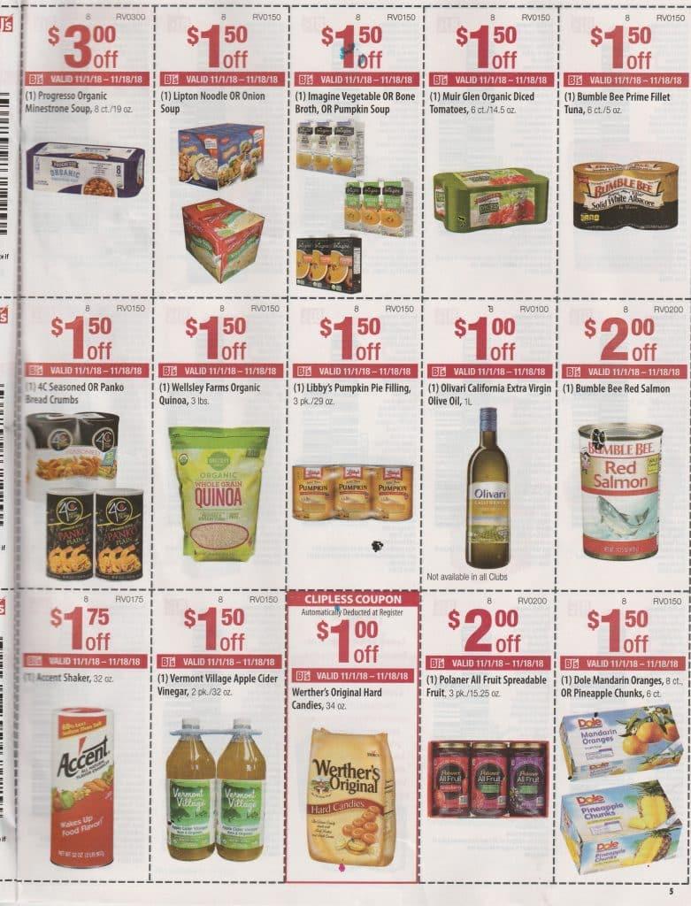bjs coupons in club booklet November 2018