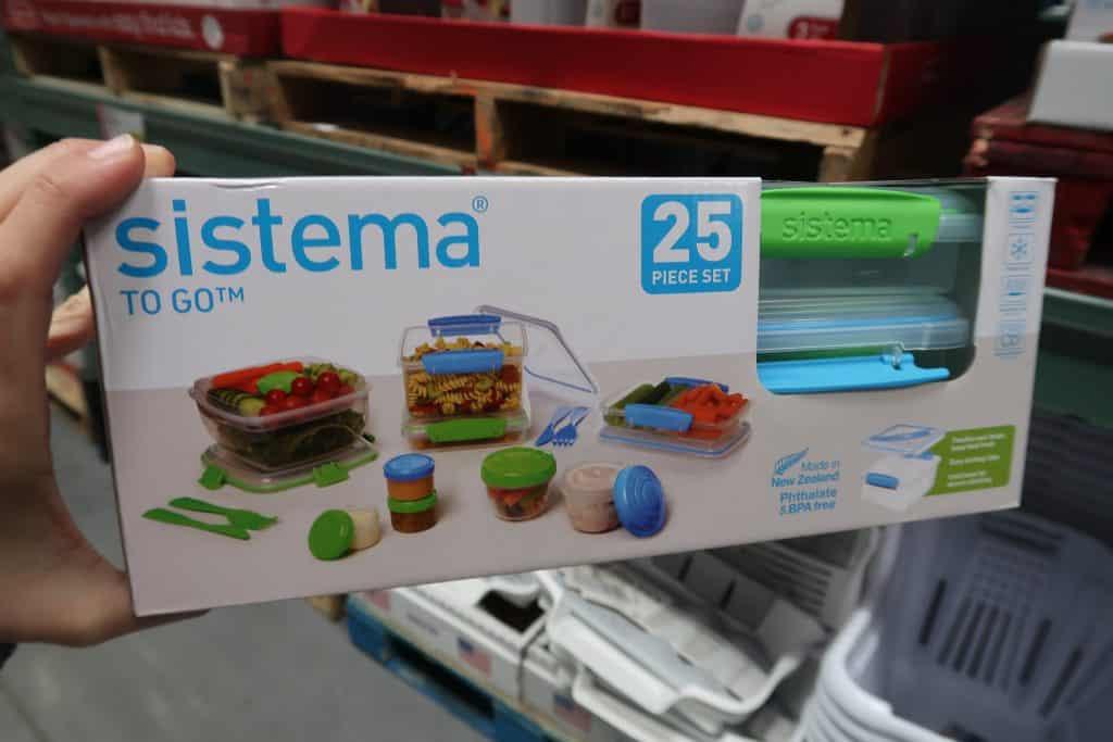 sistema 25 piece set deal at BJs wholesale club