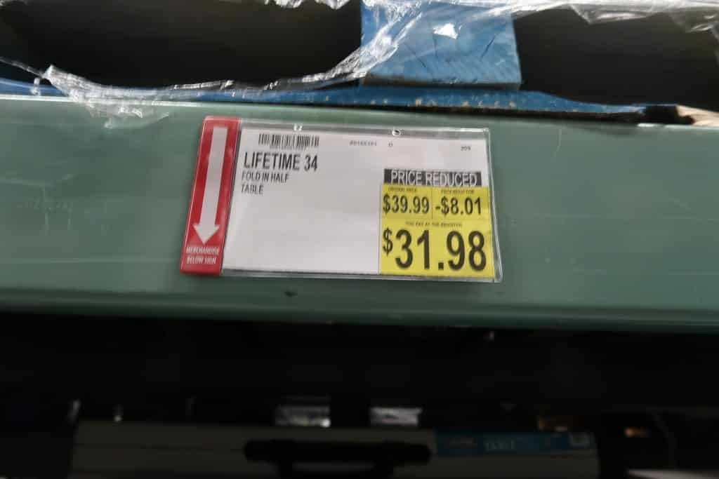 lifetime folding table deal at Bjs wholesale club
