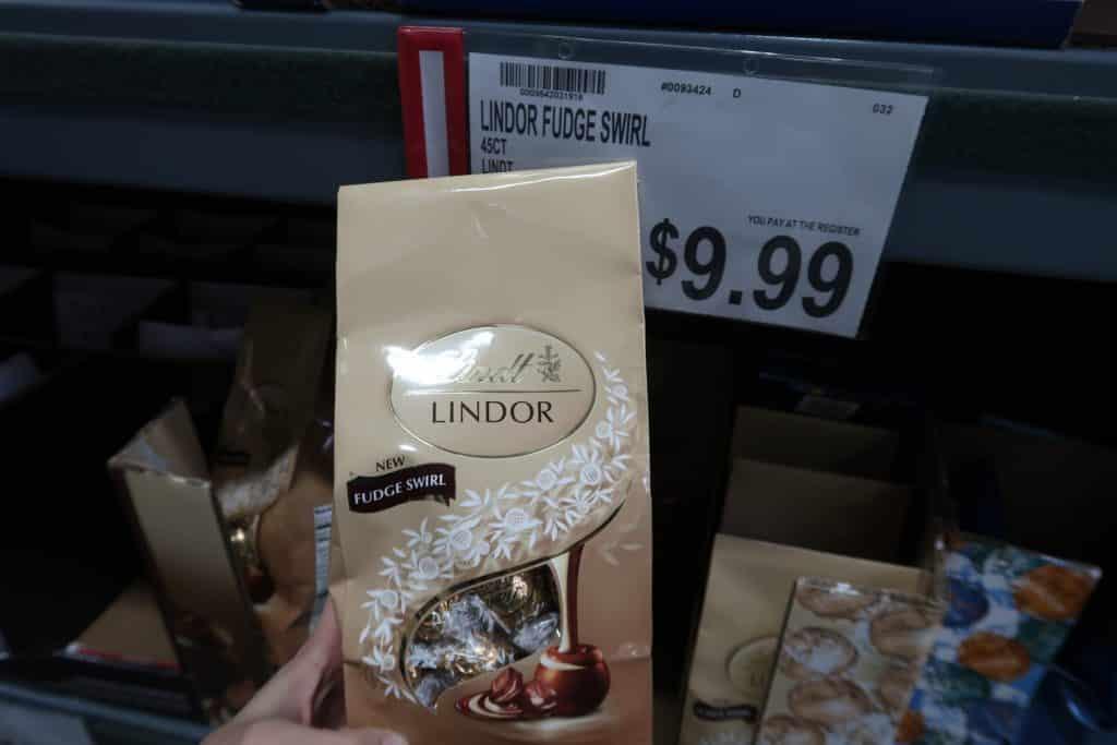 lindor chocolate deal at BJs